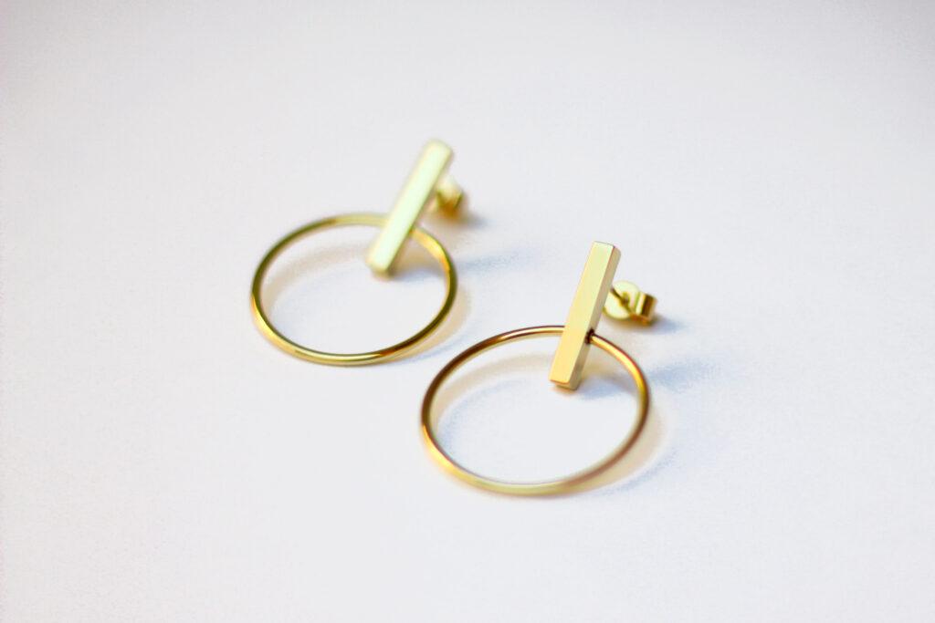 Boucles Cercle et Barre mobiles - defi 30 jours 30 creations