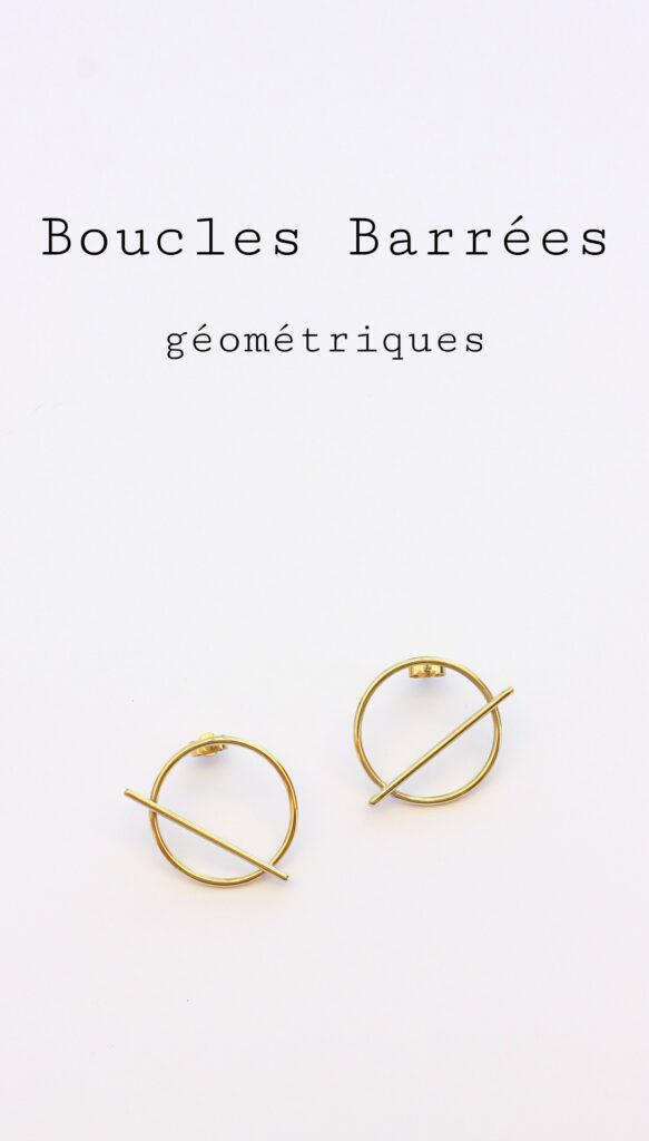 Boucles barrées géométriques - Découvrez en image la fabrication de ces boucles sur www.apprendre-la-bijouterie.com