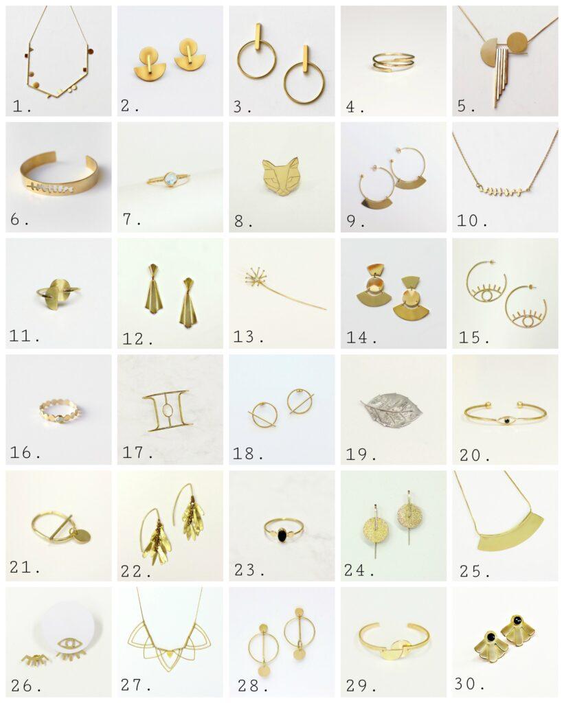Les 30 créations du défi 30 JOURS / 30 CREATIONS sur www.apprendre-la-bijouterie.com