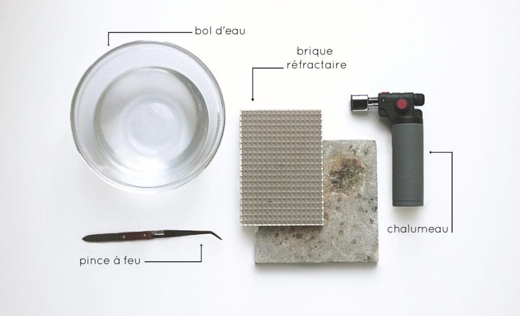 Liste du matériel nécessaire pour recuire le métal en bijouterie