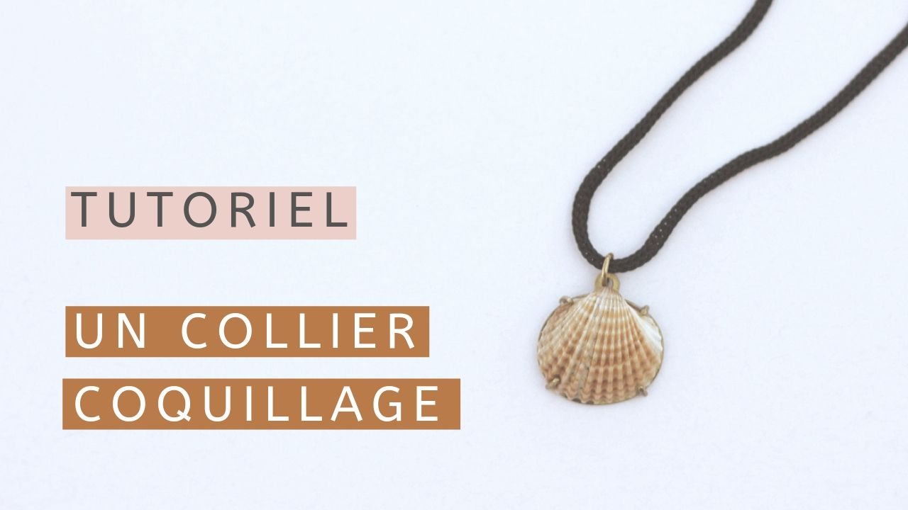 Fabriquer un collier simple avec un coquillage - Apprendre la bijouterie