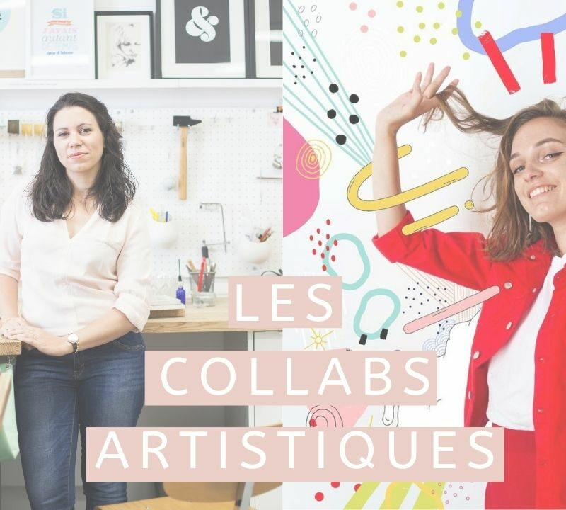 Collaboration entre illustratrice et bijoutière